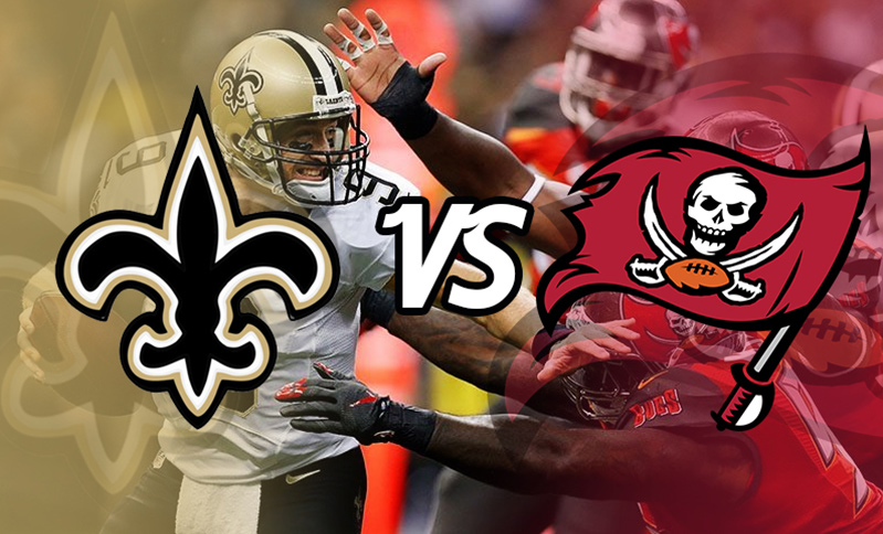 NFL action live in Florida. New Orleans Saints vs Tampa Bay